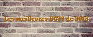 Les meilleures SCPI de 2018